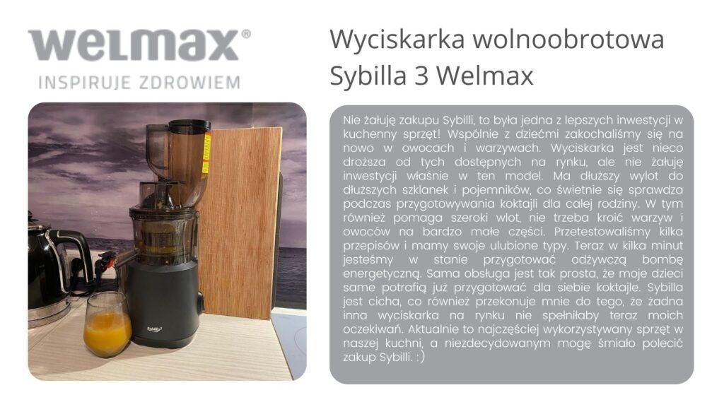Sybilla 3 wyciskarka wolnoobrotowa welmax opinie